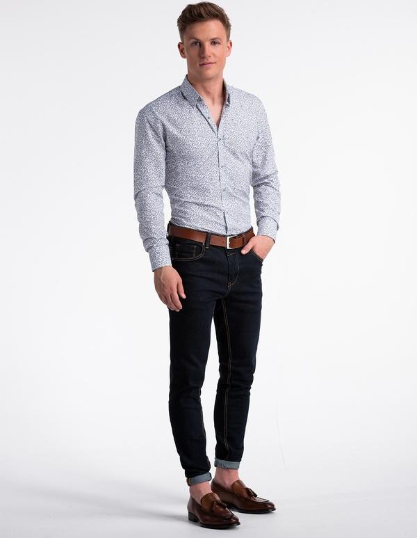 Koszula Ombre_Premium w stylu casual z długim rękawem