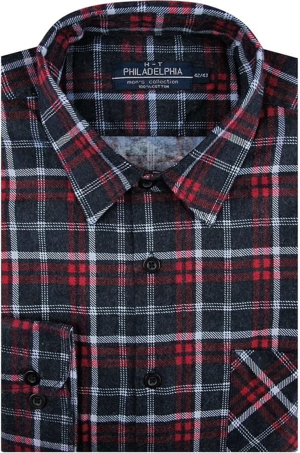 Koszula Philadelphia z tkaniny z klasycznym kołnierzykiem