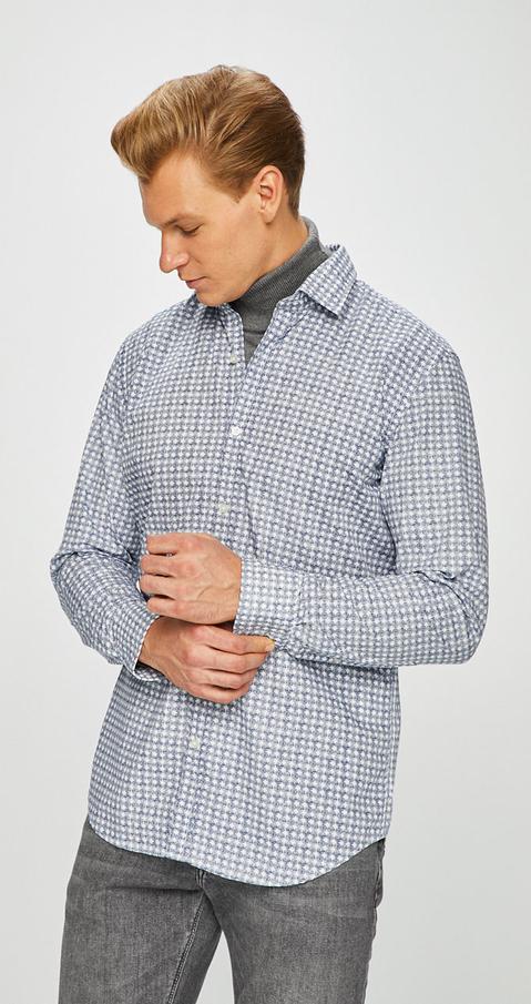 Koszula Pierre Cardin z bawełny z długim rękawem