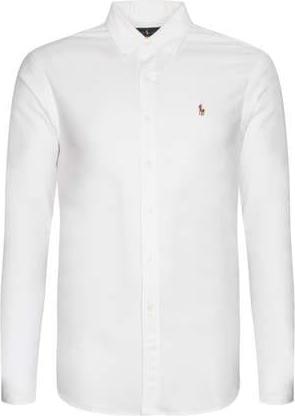 Koszula POLO RALPH LAUREN z bawełny z kołnierzykiem button down z długim rękawem