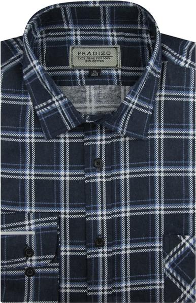 Koszula Pradizo z długim rękawem z tkaniny