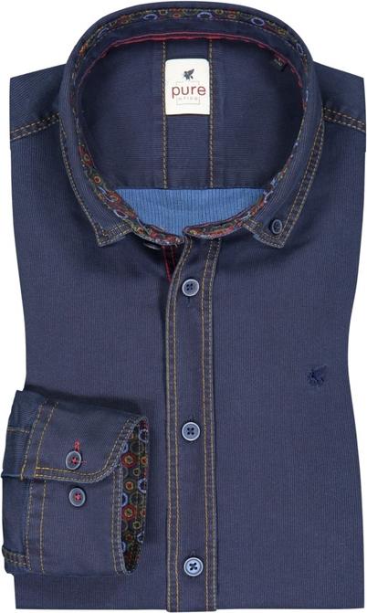 Koszula Pure z kołnierzykiem button down z bawełny