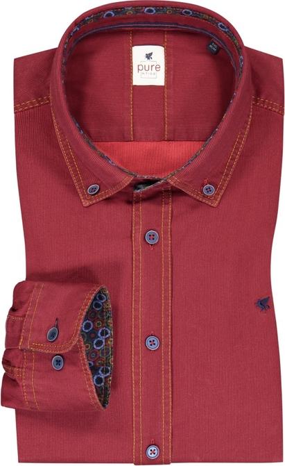 Koszula Pure z kołnierzykiem button down z długim rękawem