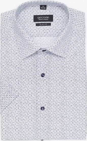 Koszula Recman z bawełny z klasycznym kołnierzykiem