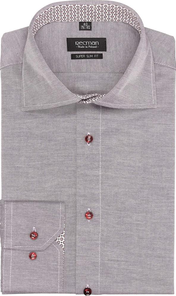 Koszula recman z długim rękawem bez wzorów