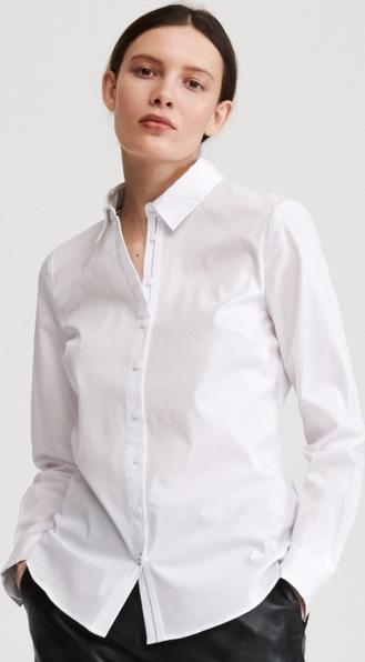 Koszula Reserved z długim rękawem z kołnierzykiem