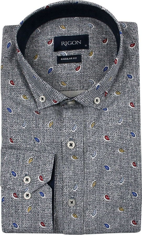 Koszula Rigon z bawełny w młodzieżowym stylu