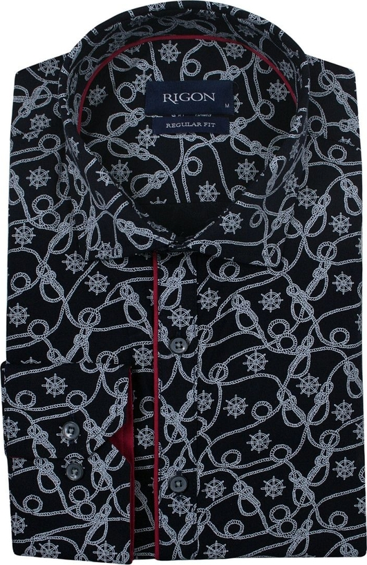 Koszula Rigon z długim rękawem z bawełny w młodzieżowym stylu
