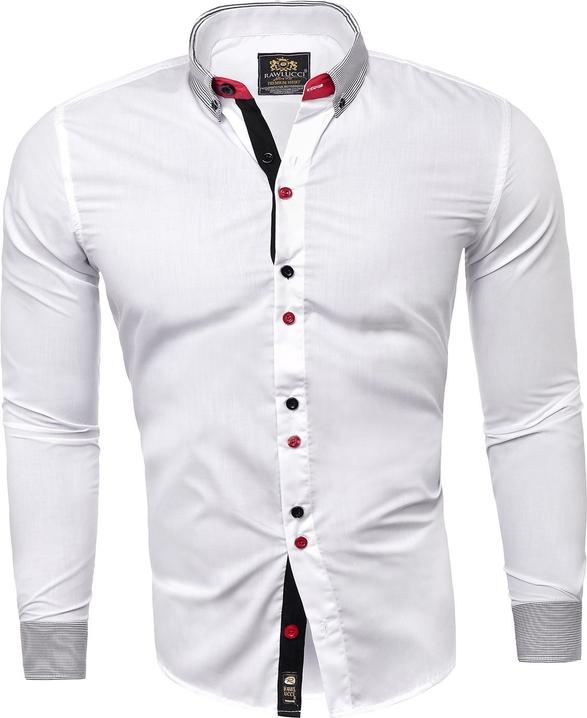 Koszula Risardi z długim rękawem z kołnierzykiem button down