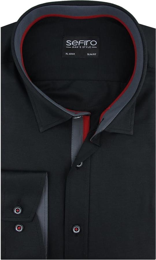 Koszula Sefiro z klasycznym kołnierzykiem z tkaniny