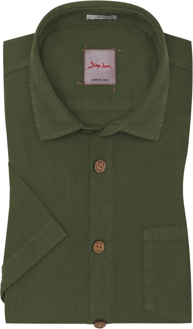Koszula Signum z klasycznym kołnierzykiem z krÓtkim rękawem  8KTpL