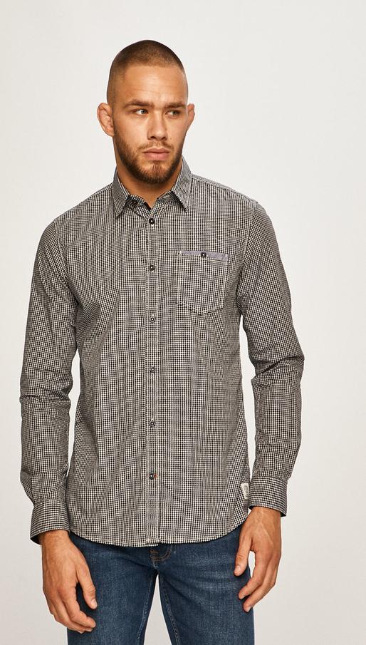 Koszula Tom Tailor Denim z długim rękawem z bawełny