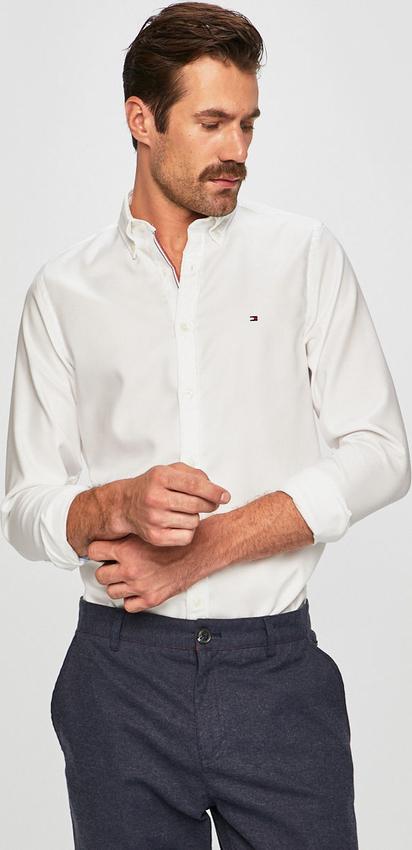 Koszula Tommy Hilfiger z tkaniny z długim rękawem