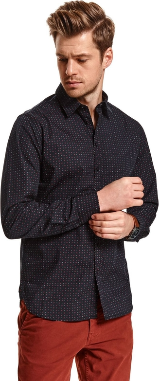 Koszula Top Secret z klasycznym kołnierzykiem z długim rękawem
