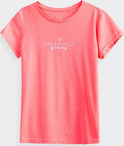 Koszulka dziecięca 4F dla dziewczynek z krótkim rękawem