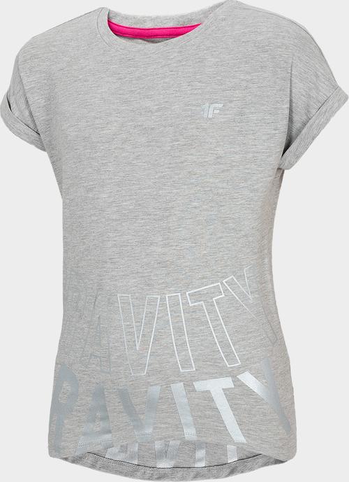 Koszulka dziecięca 4fsklep.pl z krótkim rękawem z bawełny