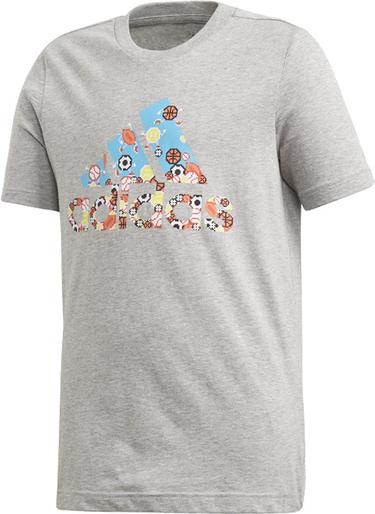 Koszulka dziecięca Adidas z bawełny z krótkim rękawem