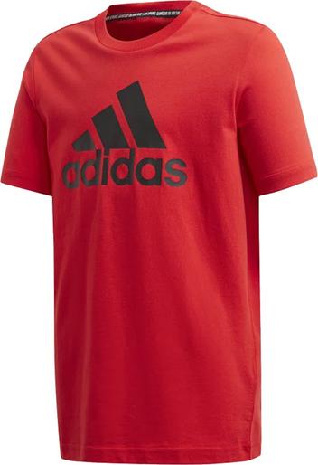 Koszulka dziecięca Adidas z krótkim rękawem z bawełny