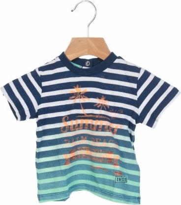 Koszulka dziecięca Chicco w paseczki dla chłopców z bawełny