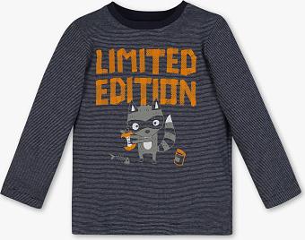 Koszulka dziecięca Palomino z bawełny z długim rękawem w paseczki
