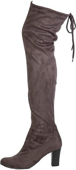 Kozaki Caprice w stylu klasycznym za kolano z tkaniny