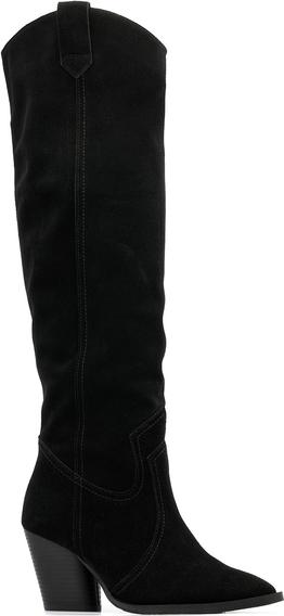 Kozaki Neścior z weluru w stylu klasycznym przed kolano