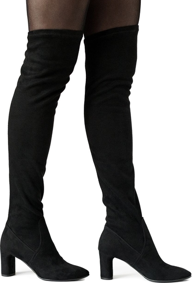 Kozaki Neścior z zamszu za kolano w stylu klasycznym