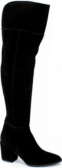 Kozaki Oleksy ze skóry na obcasie za kolano
