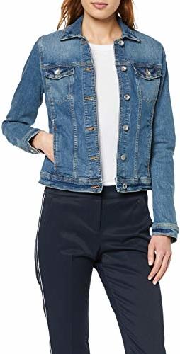 Kurtka amazon.de krótka z jeansu w stylu casual