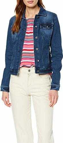Kurtka amazon.de w stylu casual z jeansu krótka
