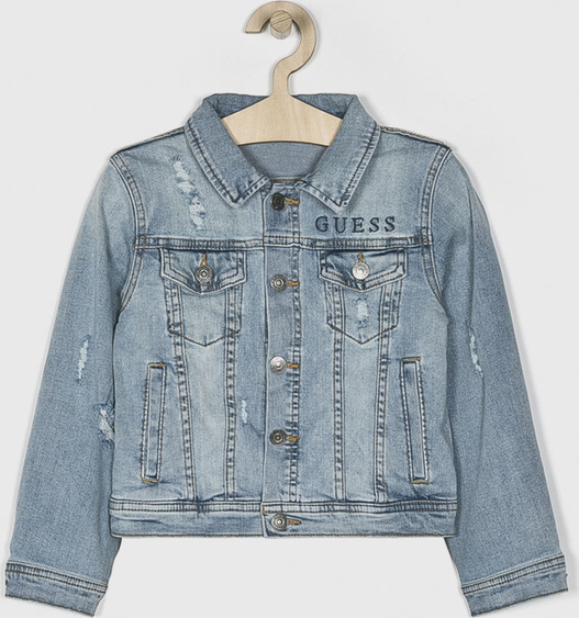 Kurtka dziecięca Guess Jeans z jeansu