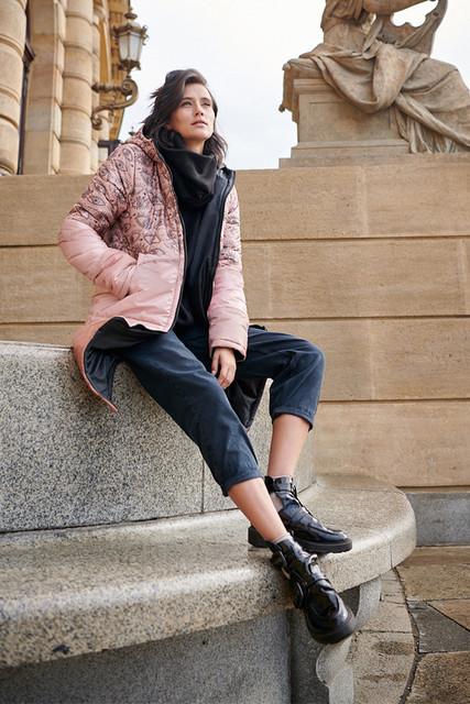 Kurtka Naoko długa w stylu casual