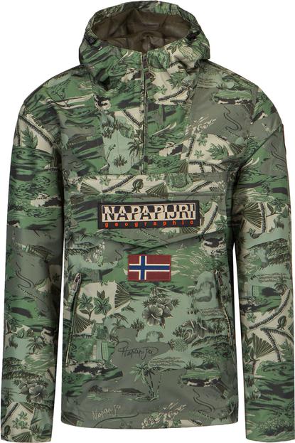 Kurtka Napapijri z tkaniny w militarnym stylu krótka