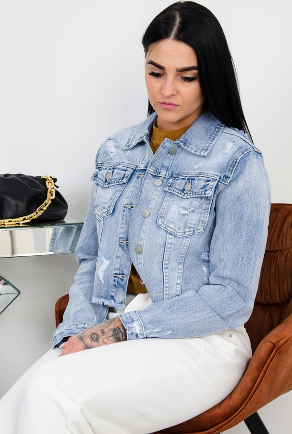 Kurtka Olika krótka z jeansu