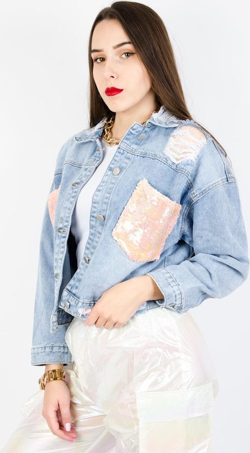 Kurtka Olika z jeansu w młodzieżowym stylu