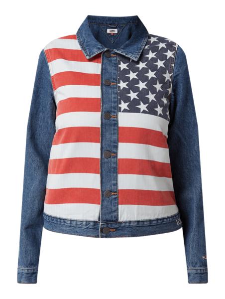 Kurtka Tommy Jeans krótka w młodzieżowym stylu