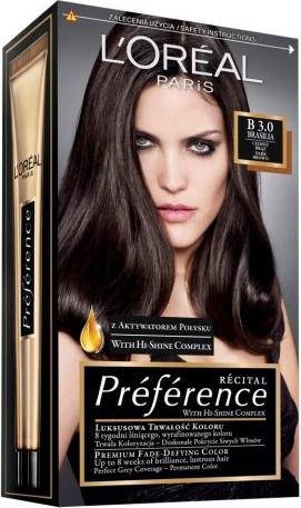 L'Oreal Paris L'Oreal Recital Preference B Brasilia farba do każdego typu włosów (3.0) 120 ml