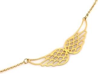 Lovrin Złoty naszyjnik 585 celebrytka skrzydła 1,99 g