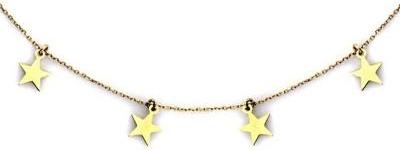 Lovrin Złoty naszyjnik 585 choker z gwiazdeczkami