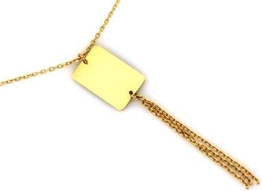 Lovrin Złoty naszyjnik 585 długi z dużym wisiorem 1,46 g