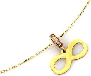 Lovrin Złoty naszyjnik 585 nieskończoność cyrkonie 1,39 g