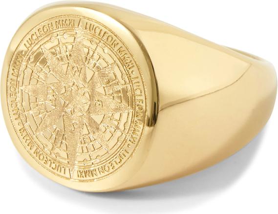 Lucleon Pomalowany na złoto pierścień Ryker