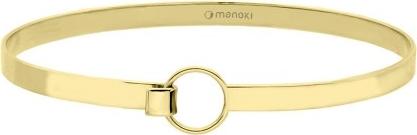 Manoki BA748G złota minimalistyczna bransoleta
