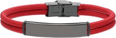 manoki.pl BA782C czerwono czarna bransoletka pod grawer
