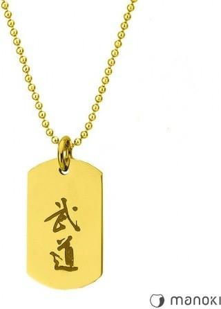 Manoki WA411G złoty nieśmiertelnik BUDO