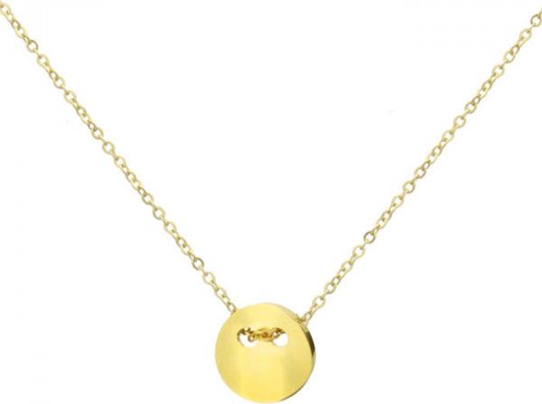 Manoki Złoty naszyjnik damski z medalikiem