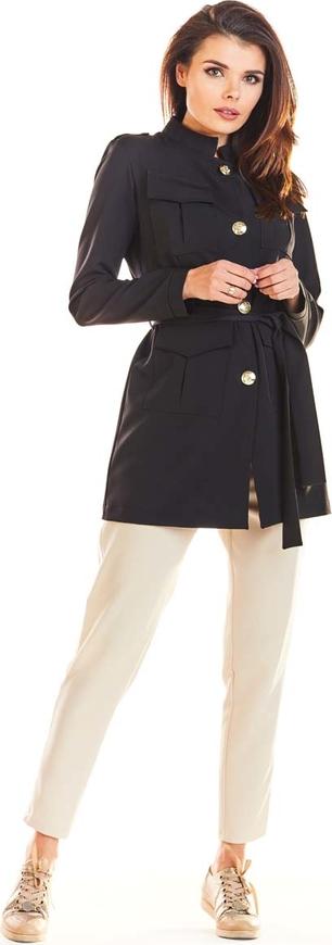 Marynarka Awama w militarnym stylu długa na guziki