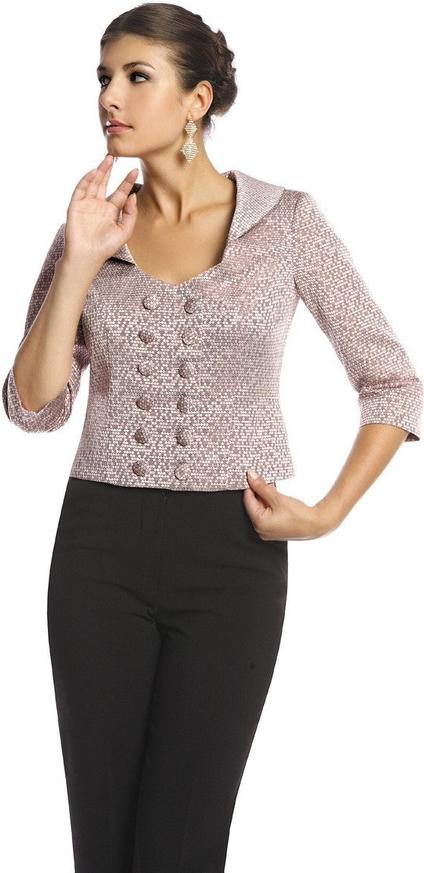 Marynarka Fokus w stylu casual z tkaniny na guziki