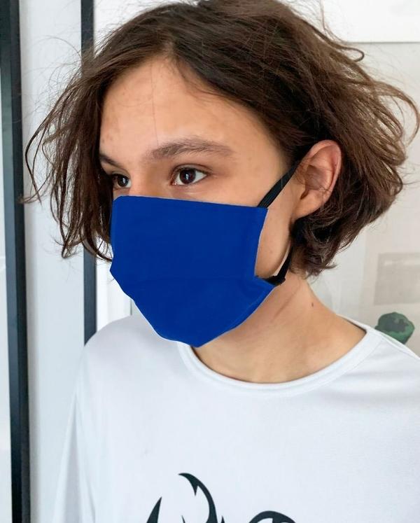 Maseczka ochronna z filtrem - wielorazowa - SAFESHINO - niebieska