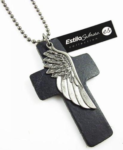 Męski naszyjnik krzyż Estilo Sabroso ES05420